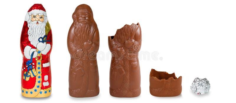 巧克力圣诞老人 免版税图库摄影