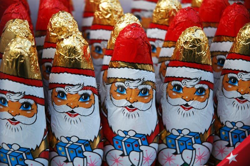 巧克力圣诞老人 免版税库存照片