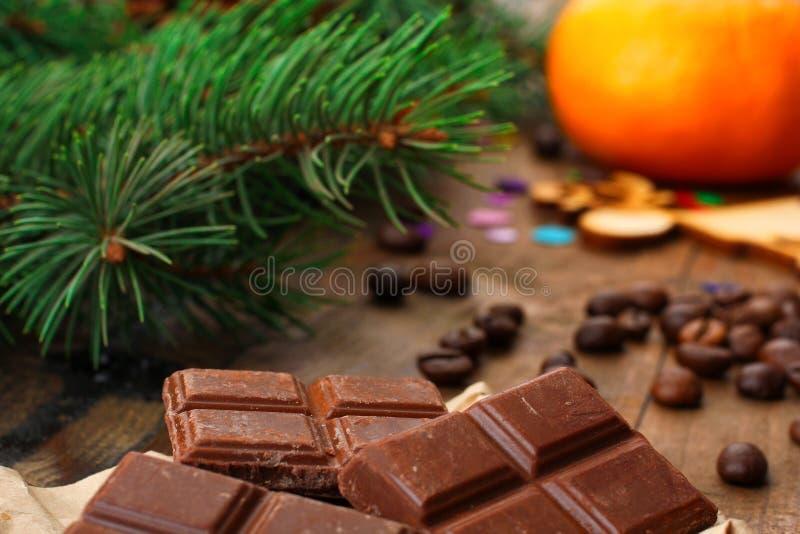 巧克力圣诞节构成 图库摄影