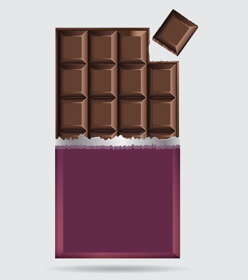 巧克力块 库存例证