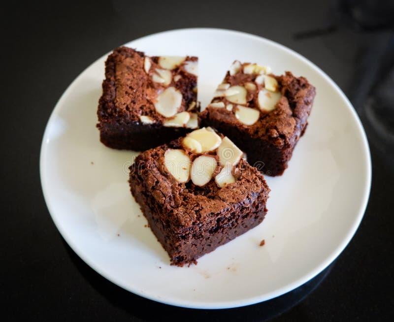 巧克力坚果果仁巧克力 库存图片