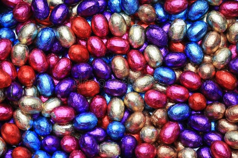 巧克力复活节彩蛋 图库摄影