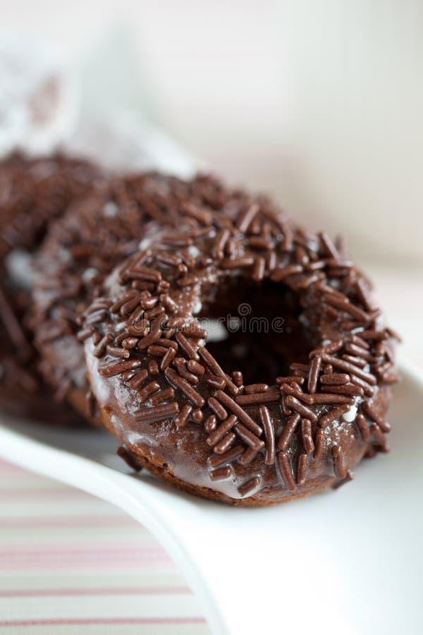 巧克力多福饼 免版税图库摄影