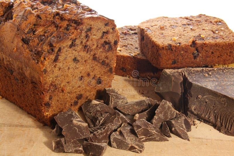 巧克力大面包 免版税库存照片