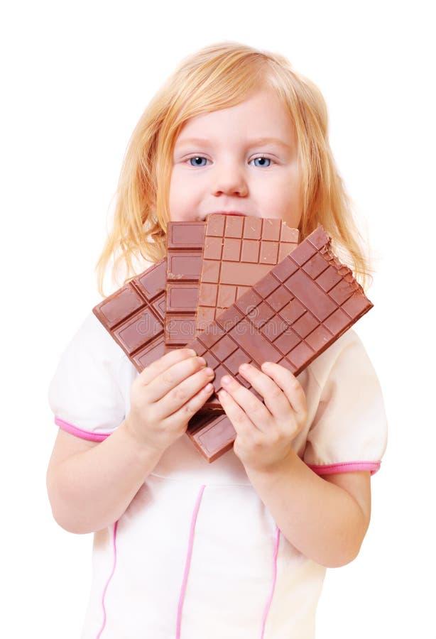 巧克力女孩一点 库存图片
