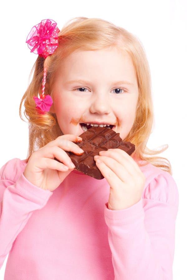 巧克力女孩微笑 图库摄影