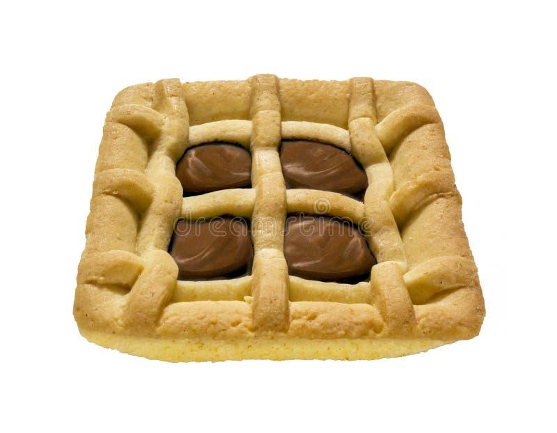 巧克力奶油短面包 库存图片