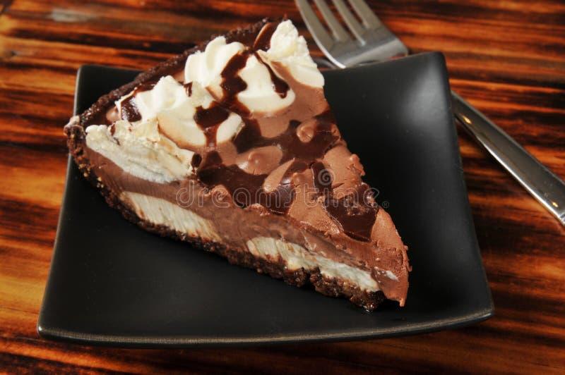巧克力奶油馅饼 免版税图库摄影