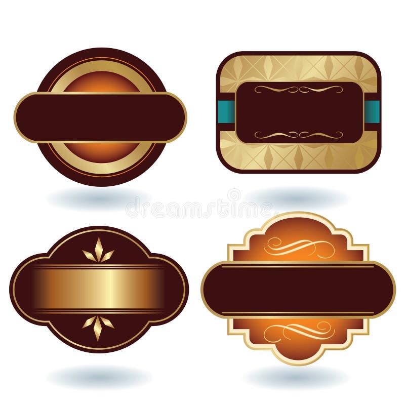 巧克力徽标模板 向量例证
