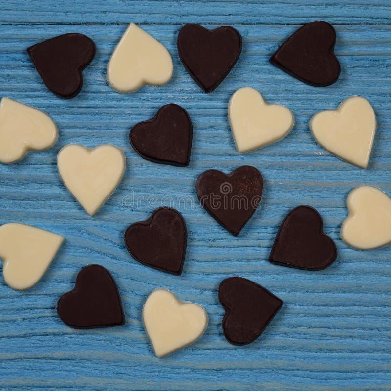 巧克力心脏 免版税库存图片