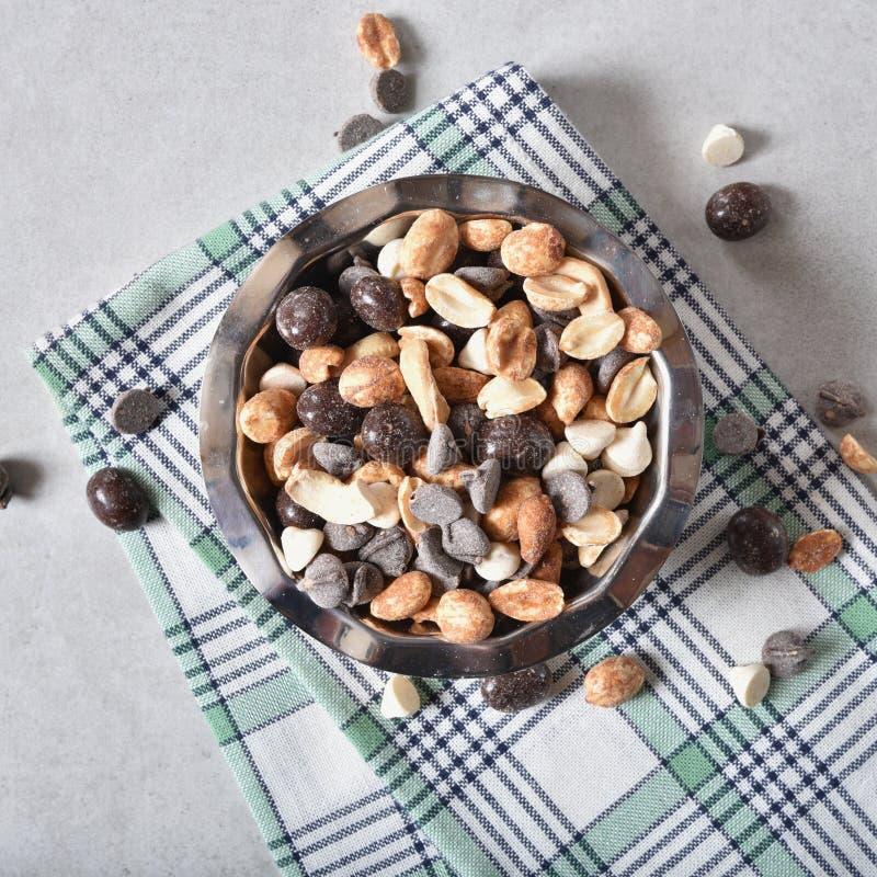 巧克力快餐混合 免版税库存图片