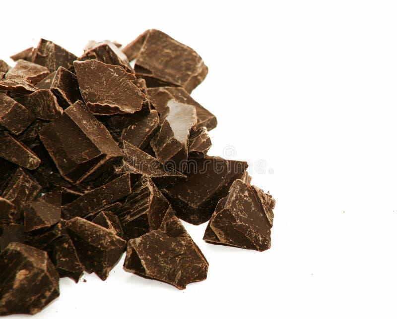巧克力接近的可口空的空间 图库摄影
