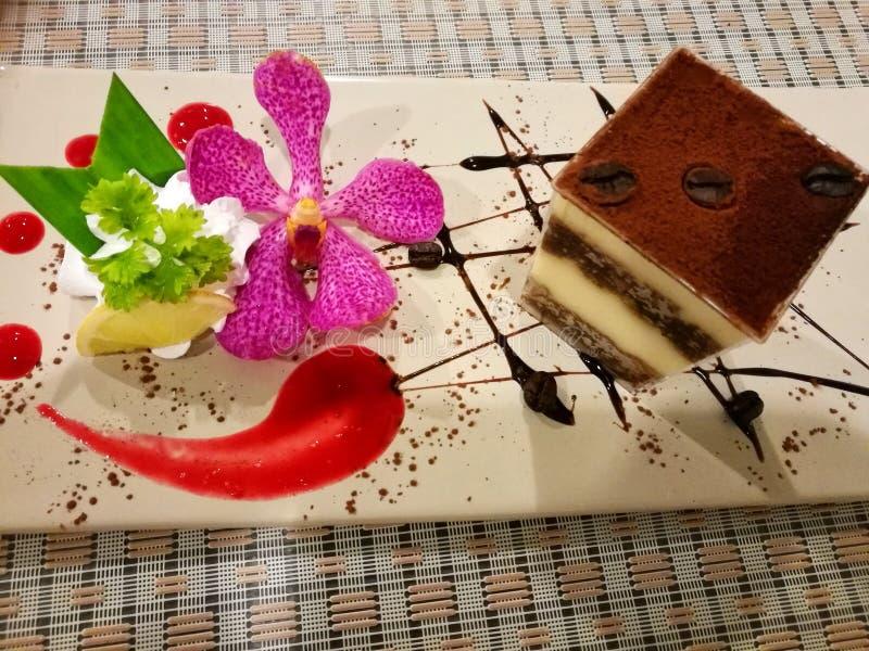 巧克力提拉米苏 免版税图库摄影