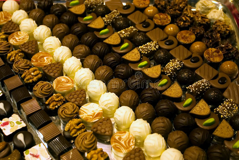 巧克力收集罚款瑞士 库存图片