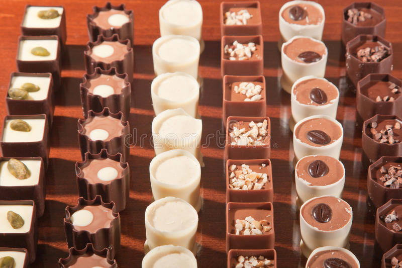 巧克力显示 库存照片
