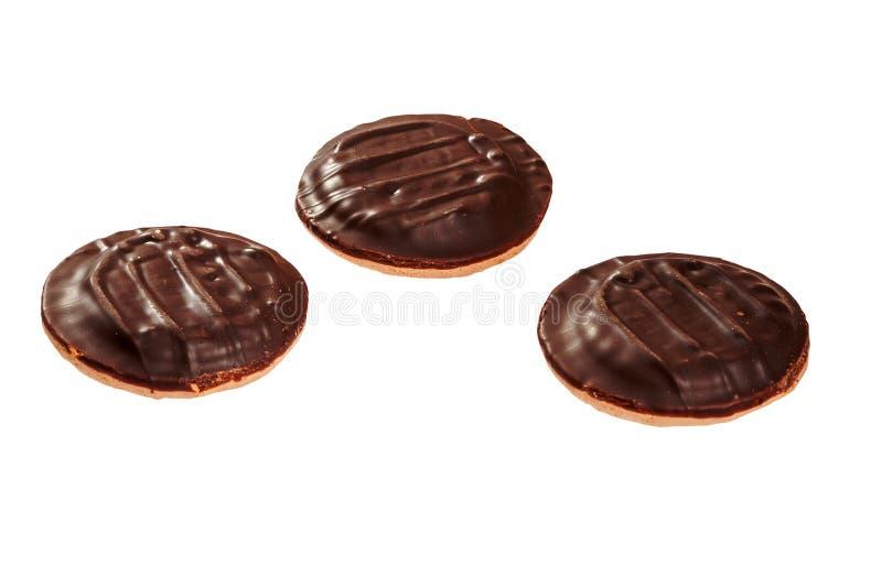 巧克力曲奇饼三 库存照片