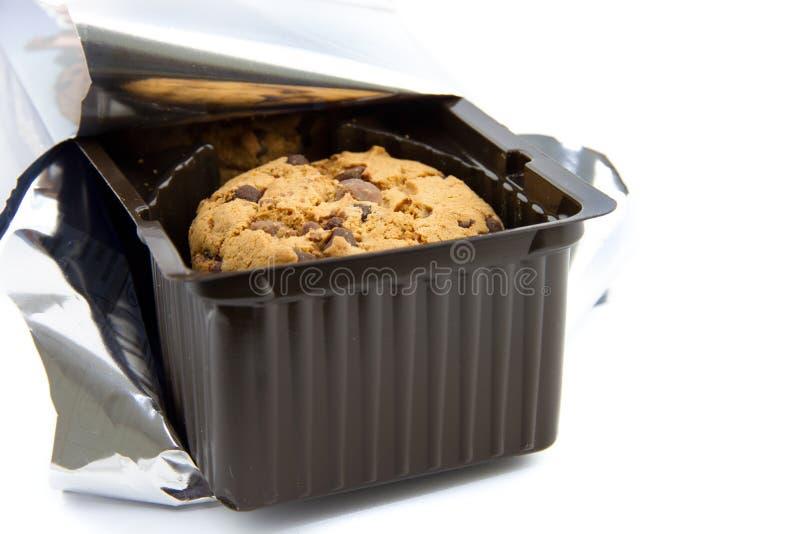 巧克力曲奇饼包裹  免版税库存图片