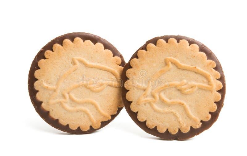巧克力曲奇饼查出 免版税库存图片