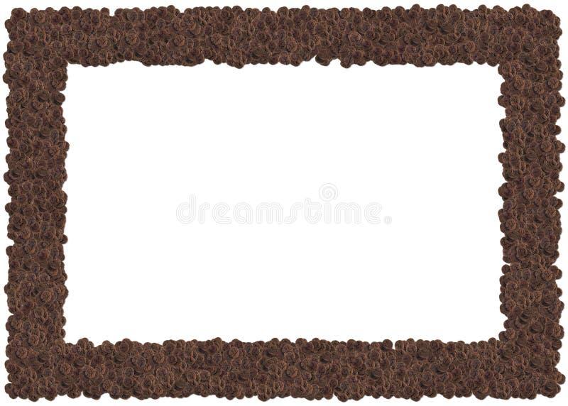 巧克力曲奇饼框架 向量例证