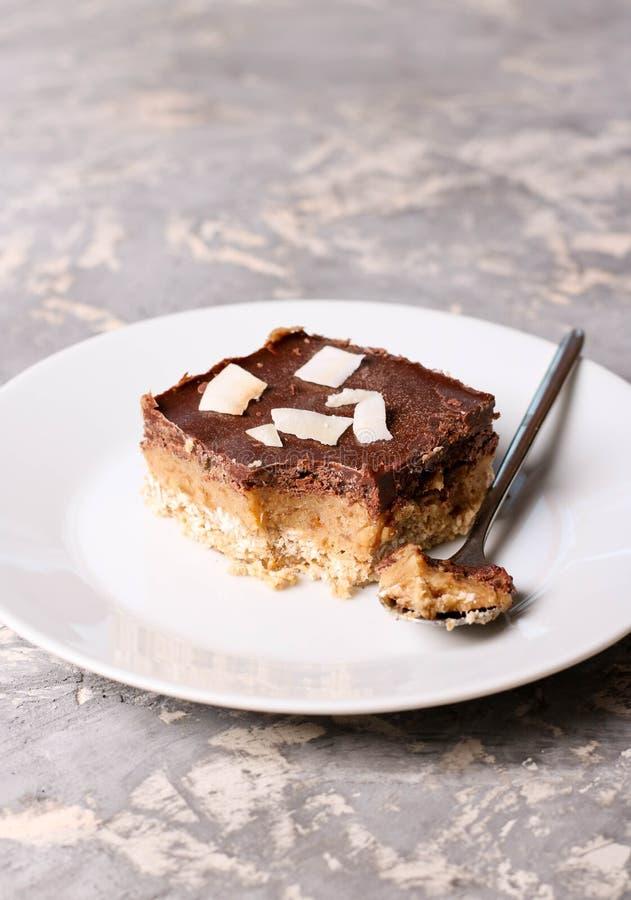 巧克力曲奇饼用焦糖 烘烤自创 库存图片