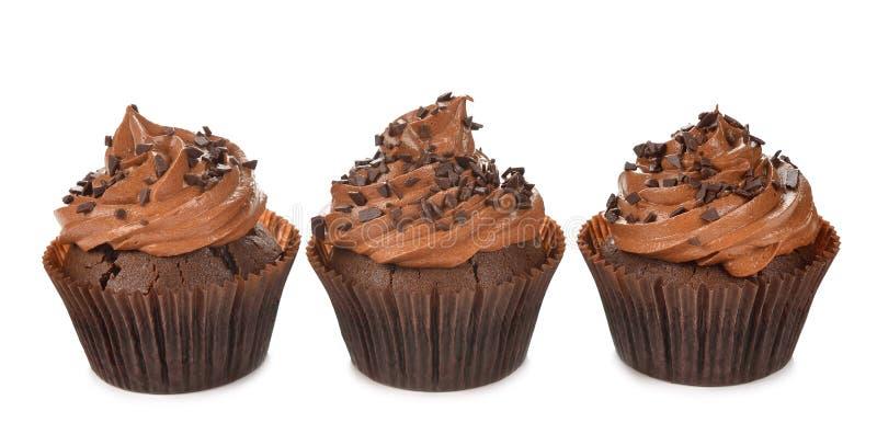 巧克力杯形蛋糕 免版税图库摄影