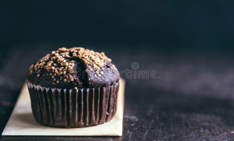 巧克力松饼用焦糖 库存照片