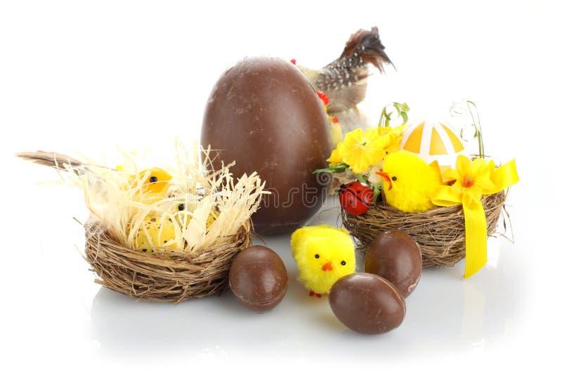 巧克力构成复活节彩蛋 库存照片
