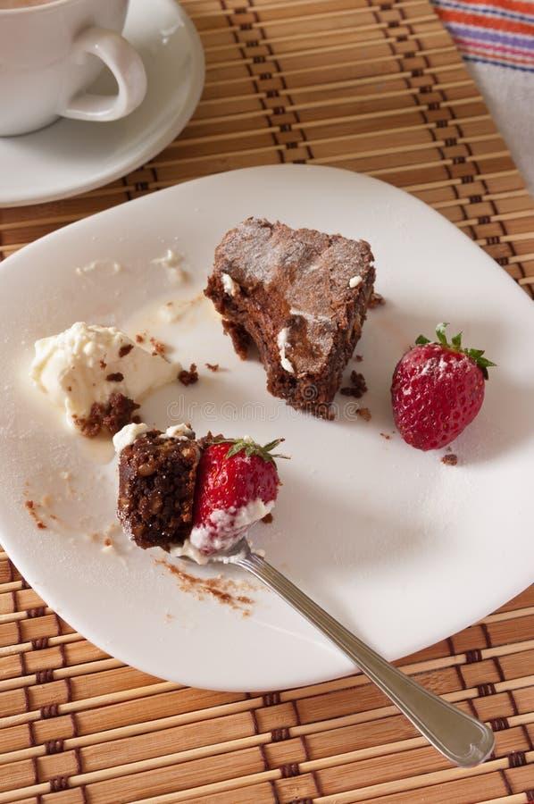 Download 巧克力果仁巧克力和草莓可口叮咬与鞭打 库存照片. 图片 包括有 有阳台, browne, 自创, 奶油, 点心 - 30334528