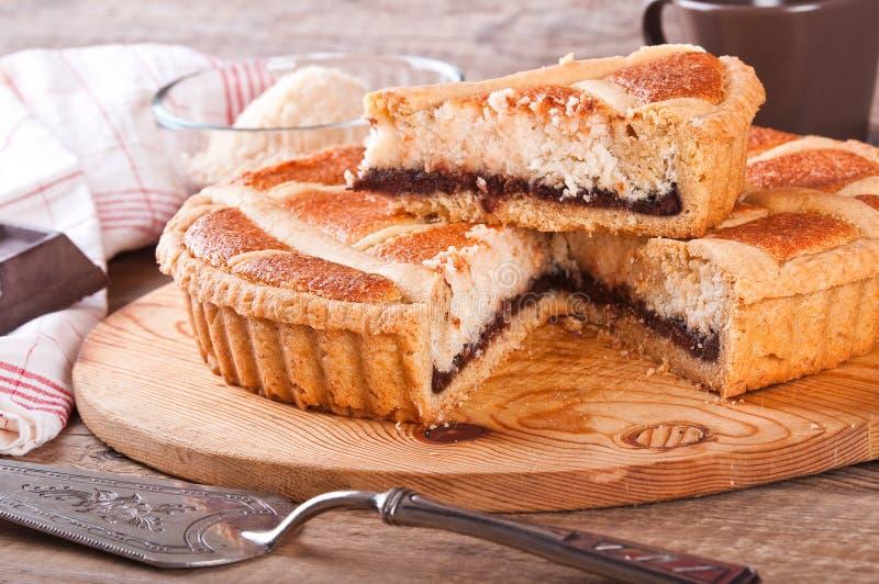 巧克力椰子馅饼 库存图片