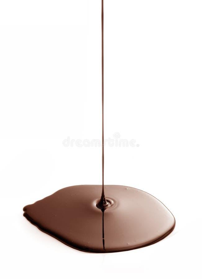 巧克力水滴 库存照片