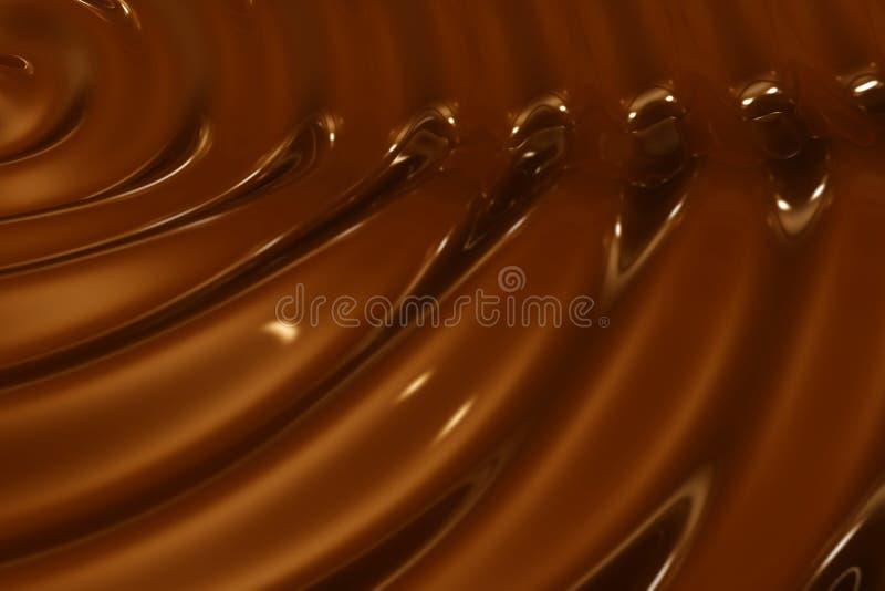 巧克力波纹背景特写镜头射击 向量例证