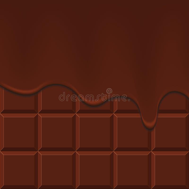 巧克力流 库存例证