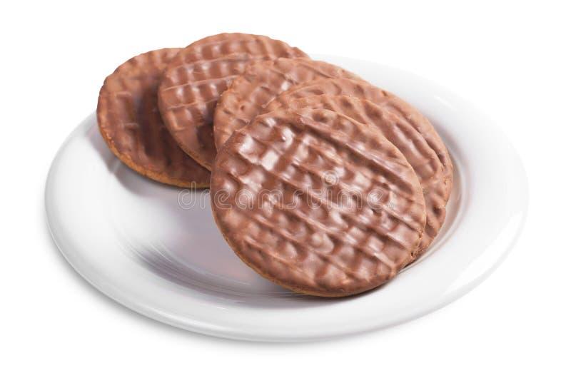 巧克力消化饼干 免版税库存图片