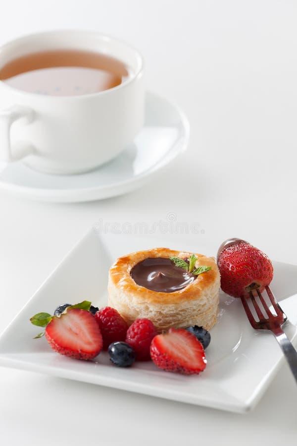 巧克力烤饼 免版税库存照片