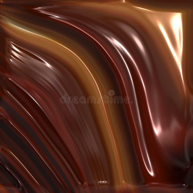 巧克力熔化 库存例证