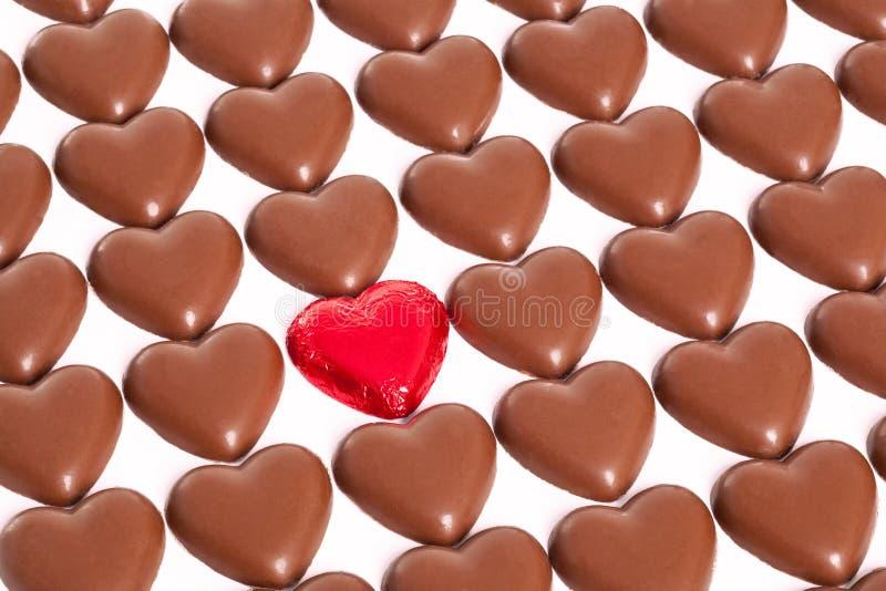 巧克力爱重点 库存图片