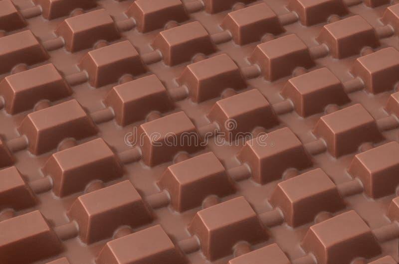 巧克力片剂 免版税图库摄影