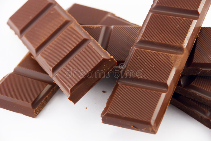 巧克力片式 免版税库存图片