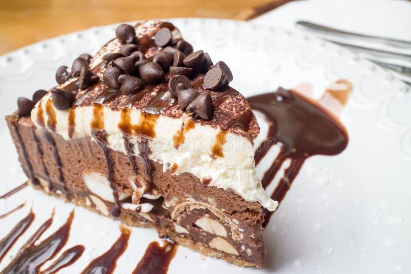 巧克力片蛋糕 免版税库存照片