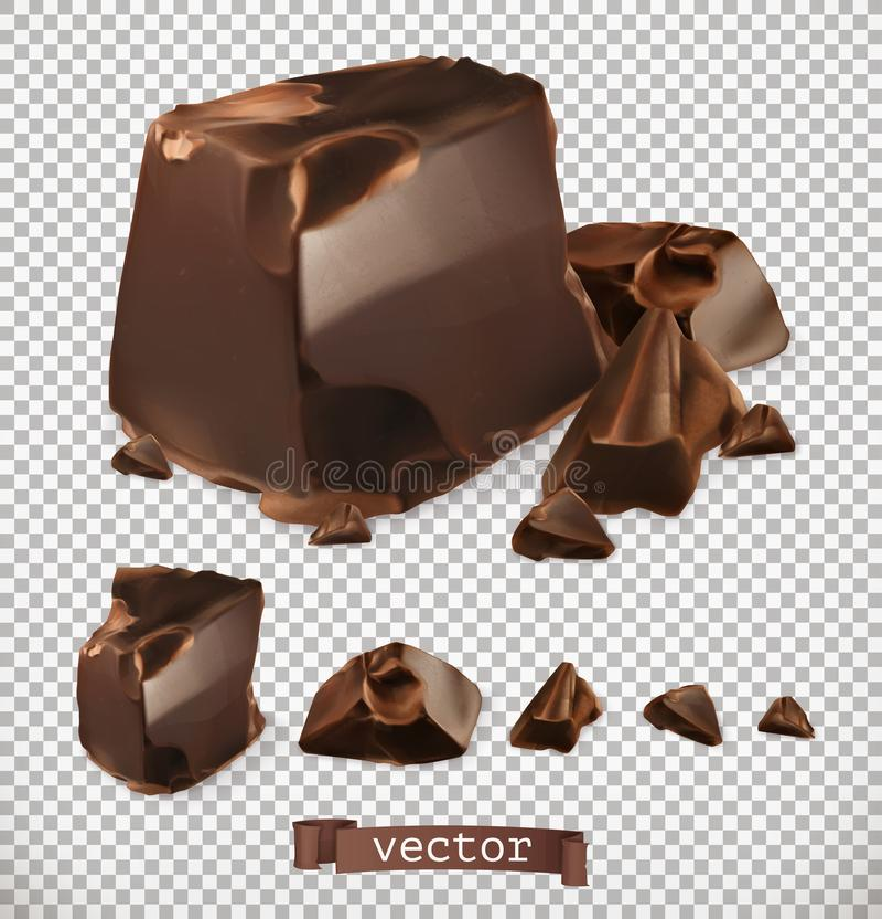 巧克力片,传染媒介集合 皇族释放例证