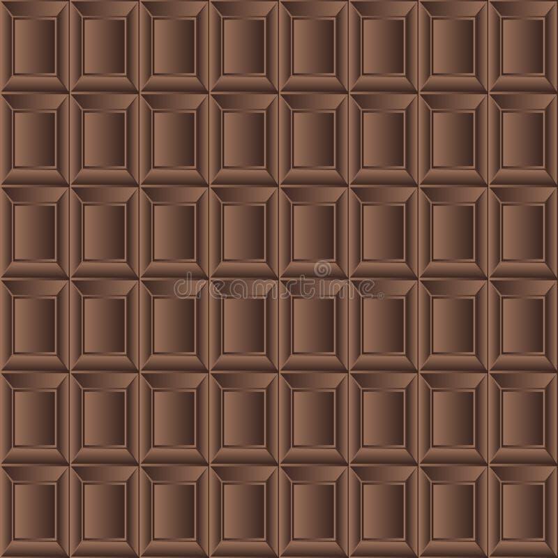 巧克力牛奶无缝的背景纹理传染媒介 向量例证