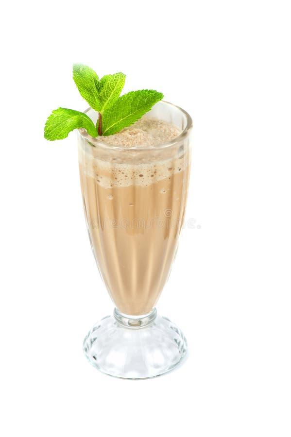 巧克力牛奶震动 免版税库存照片