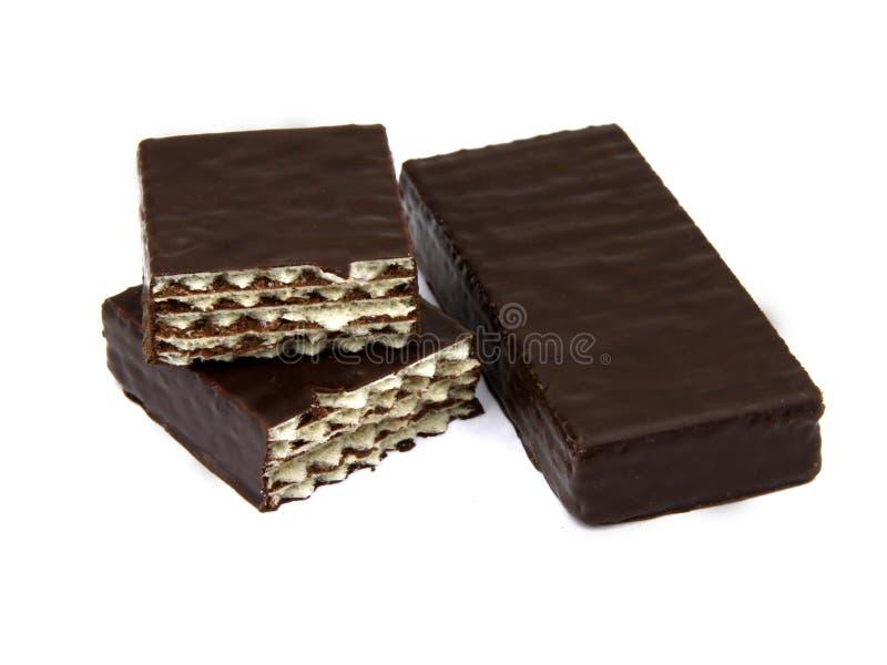 巧克力甜点薄酥饼 库存图片