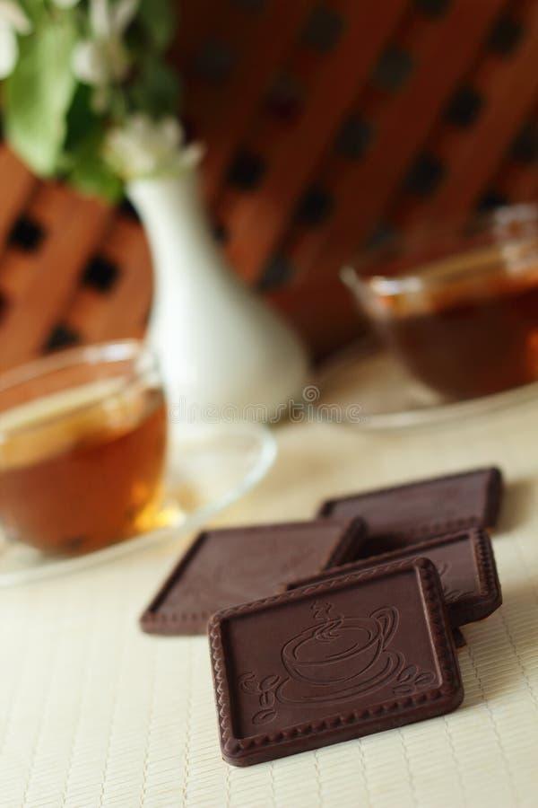 巧克力的原始的稀薄的上尉 库存图片