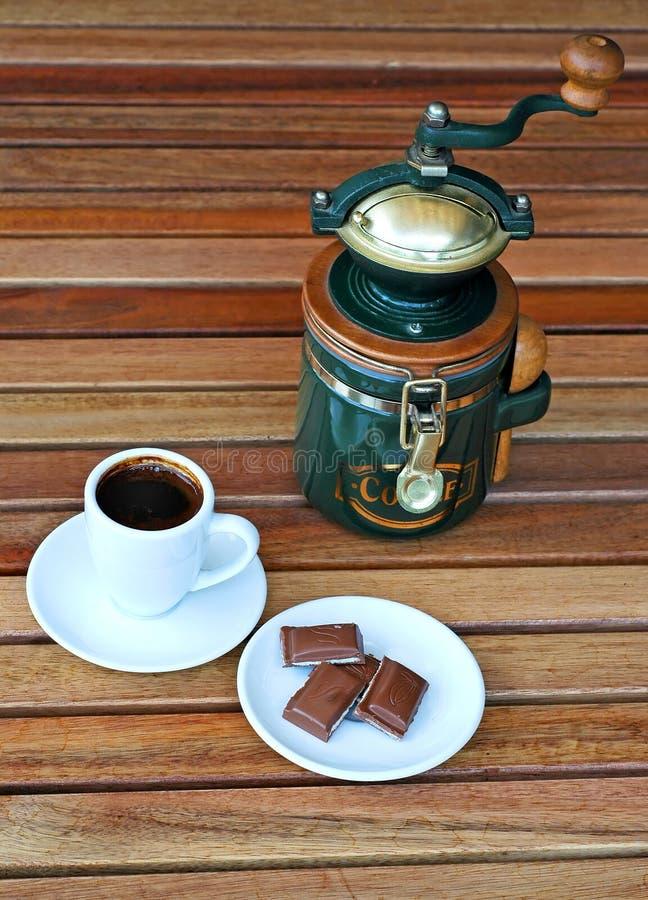 巧克力磨咖啡器 库存图片
