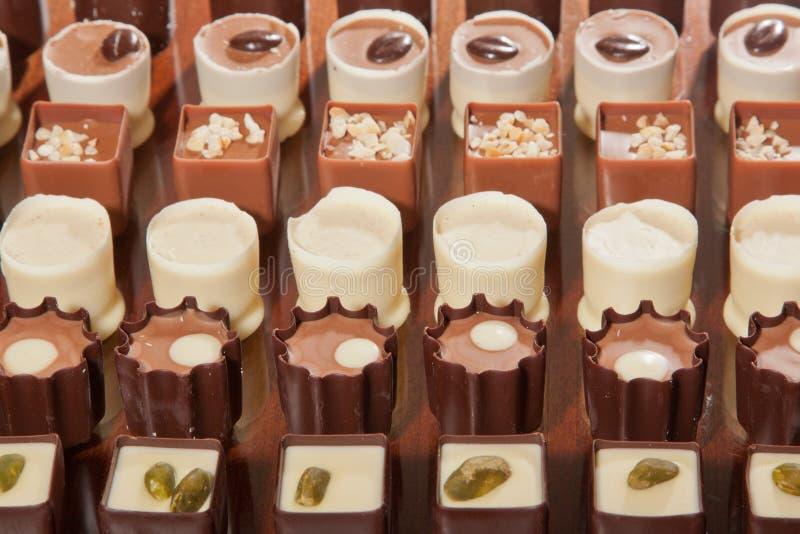 巧克力空白查出的块菌 免版税库存图片