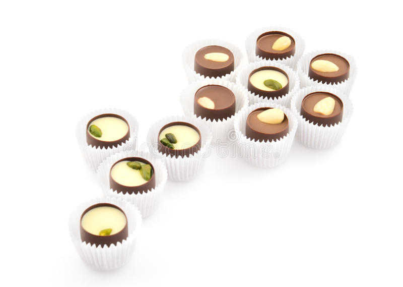 巧克力组成的花甜点封皮 免版税库存照片
