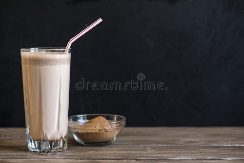 巧克力蛋白质震动 库存照片