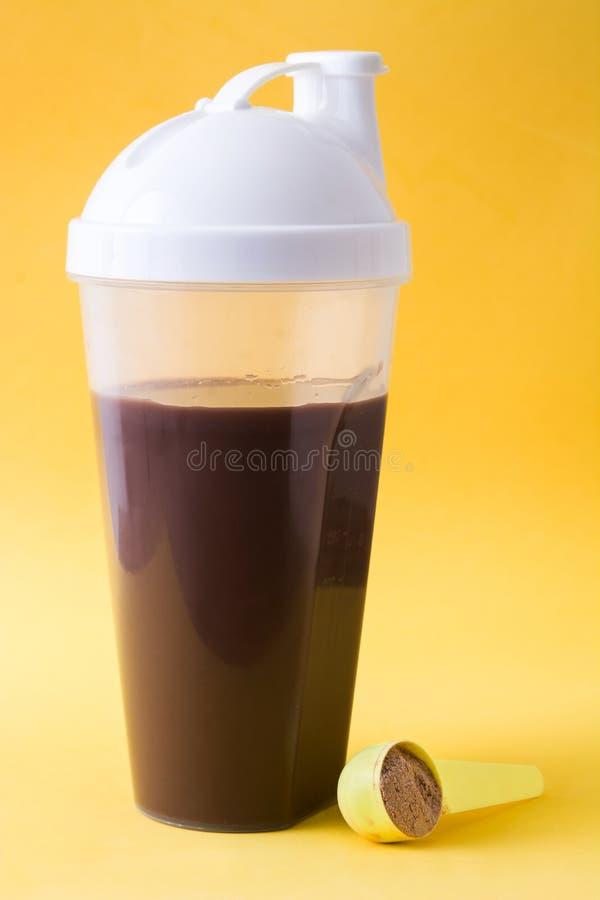 巧克力蛋白质震动 免版税库存照片