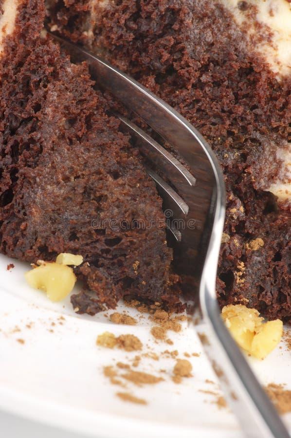 巧克力蛋糕特写镜头 免版税库存图片